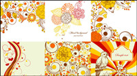 Exquisite hand-painted patterns 01 - Vector