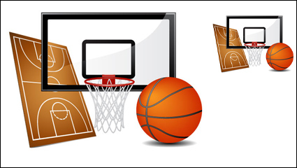 Sports equipment vector material -02