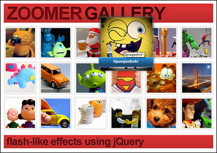 Imitation based on jQuery code flash photo album to enlarge
